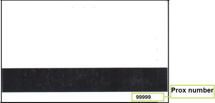 Back of the old UO ID card highlighting the prox number.