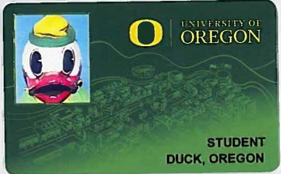 Front of the new UO ID card.
